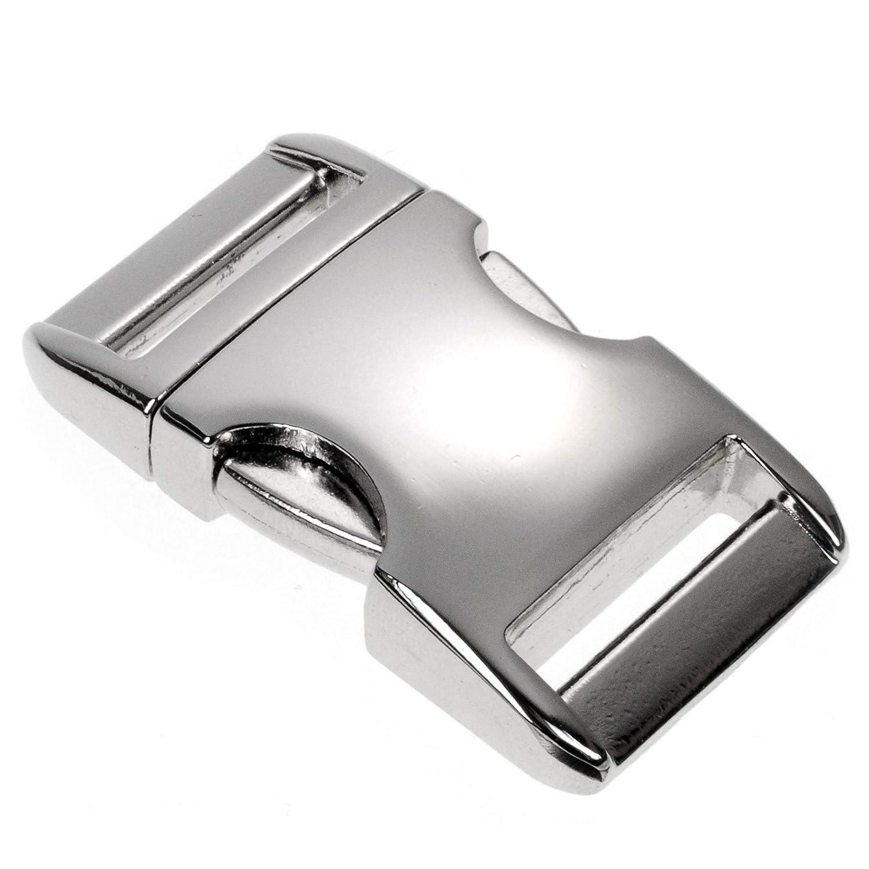 Farbe: silber Metall-Klickverschluss Alumaxx Oberfl/äche Glanz vernickelt 3//8 // Klippverschluss//Steckschlie/ßer // Steckverschluss f/ür Paracord-Armb/änder Rucksack Hunde-Halsb/änder Set aus 8 St/ück