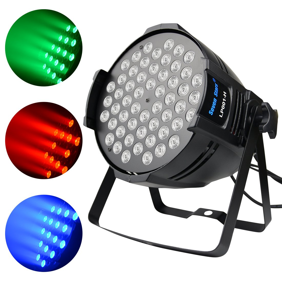 DJ PAR Light 180W RGBW LED Stage Lights 4/8 Channel DMX 512 Stage Lighting Self-supporting for DJ Wedding Party Church Concert Dance Stage Music Events