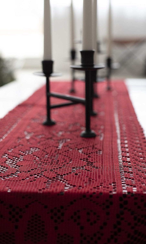 Amazon.com: Camino de mesa Ritz con encaje: Home & Kitchen