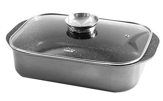 Stoneline® Combinación de asadera de y fuente de horno 40 x 25 cm ...