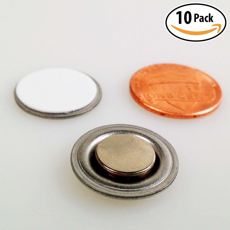 Placa magn/ética con parte trasera adhesiva AOMAG/® para insignias de identificaci/ón color plata plateado