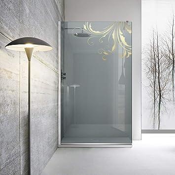 Modern Glass Art Leroy Timeless Yang - Mampara de ducha (8 mm, cristal templado de seguridad, nano, acero inoxidable SS304), dorado: Amazon.es: Bricolaje y herramientas