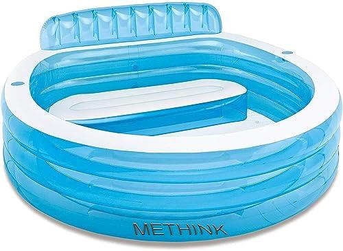 Methink Swim with Family Inflatable Lounge Pool 88 x 85 x 30