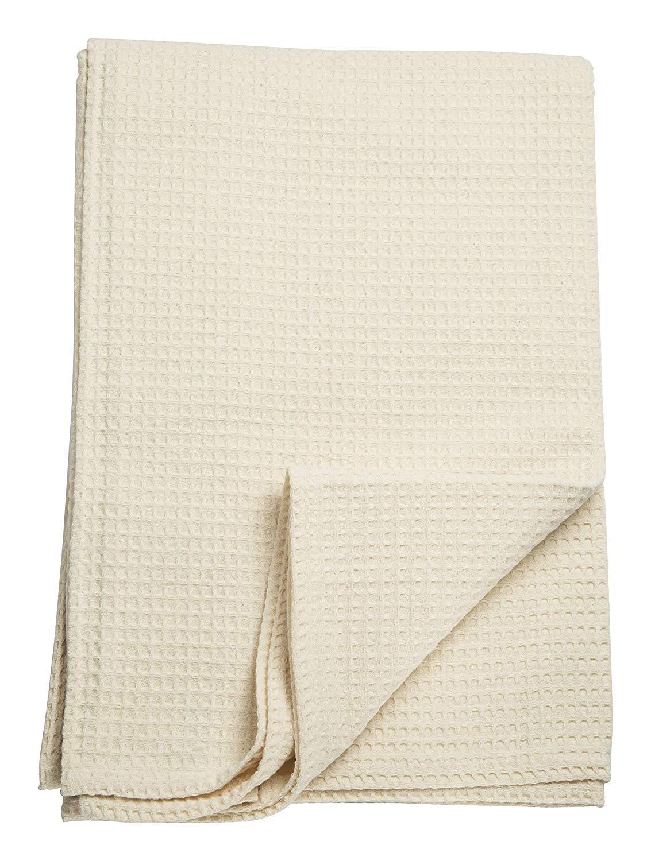 Toalla Nido de abeja 95 x 150 cm Beige 100% algodón Made in Italy: Amazon.es: Hogar