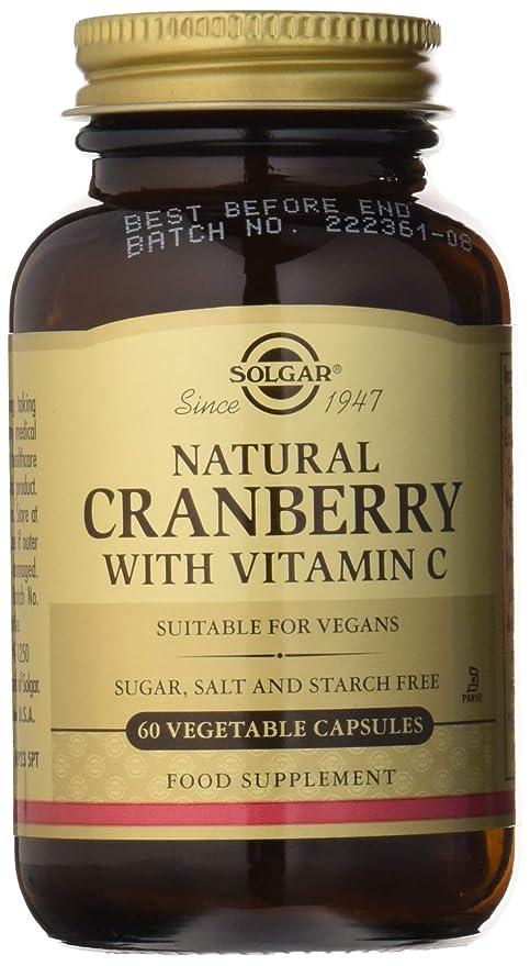 Solgar Arándano Rojo con Vitamina C Cápsulas vegetales - Envase de 60