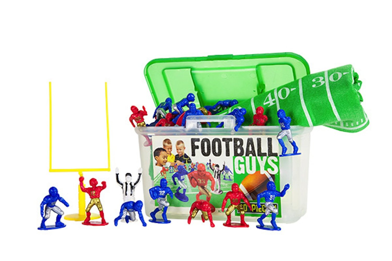 Kaskey Kids Football Guys: Red vs. Blue  Inspires Imagination with Open-Ended Play  Includes 2 Full Teams and More  For Ages 3 and Up