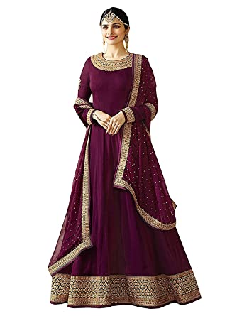 Aadhya Creation Women\'s Faux Georgette Latest Designer Red colour ...