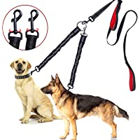 BWilkon Double Dog Leash, 360° Swivel No Tangle Dog Walking Leash for 2 Dogs up to 200lbs, Comfortable Adjustable Dual Padded Handles