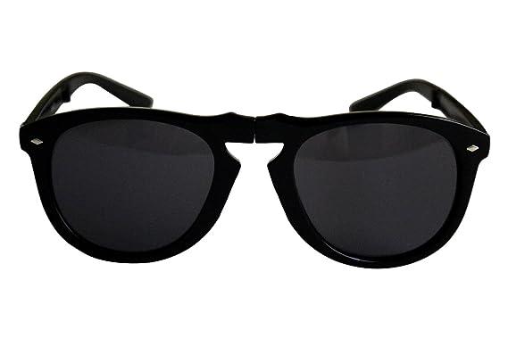 cf2a2aa41dfee Nouvelles lunettes way shape pliante Style plastique Frame lunettes de  soleil (noir   argent cadre