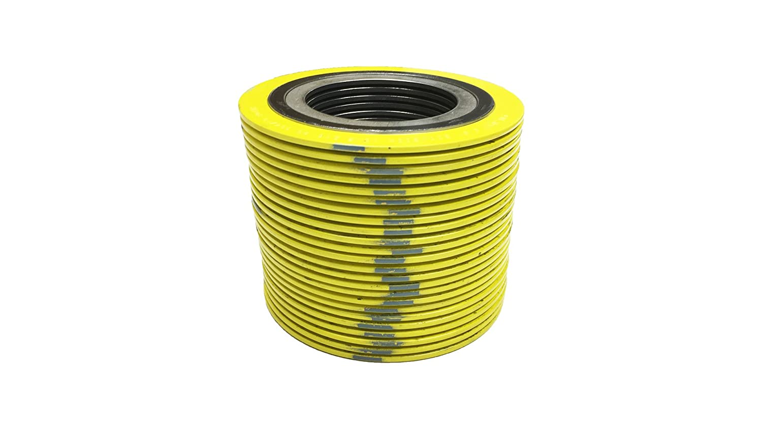 Pack of 24 of NJ Yellow with Grey Stripe Sterling Seal 9000IR1500304GR1500x24 304 Stainless Steel Spiral Wound Gasket with Inner Ring and Flexible Graphite Filler for 1.5 Pipe Pressure Class 1500# Supplied by Sur-Seal Inc
