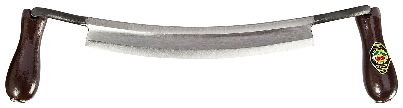 Zugmesser Made in Italy gebogen mit 2 Holzheften