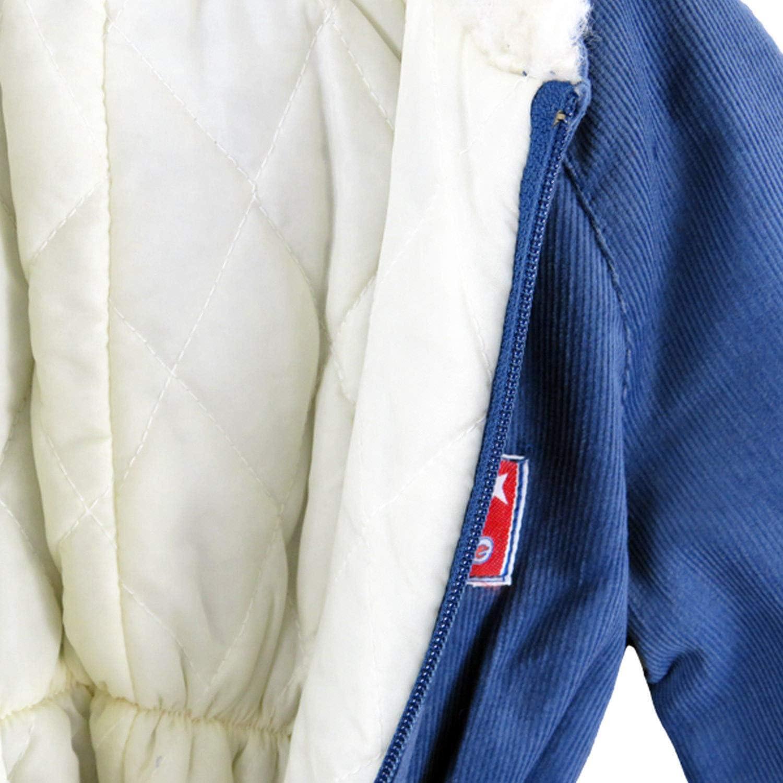 Baby Boys Girls Blue Unisex Winter Snowsuit Pramsuit Faux Fur Hooded Romper Winter Jumpsuit Zipper Front Faux Fur Hood 12M 4Yrs