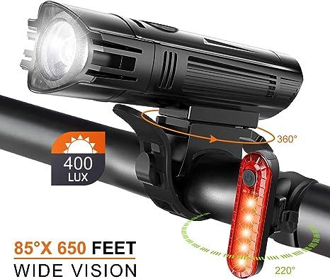 Juego de Luces LED para Bicicleta, 4 Modos Luces Bicicleta ...