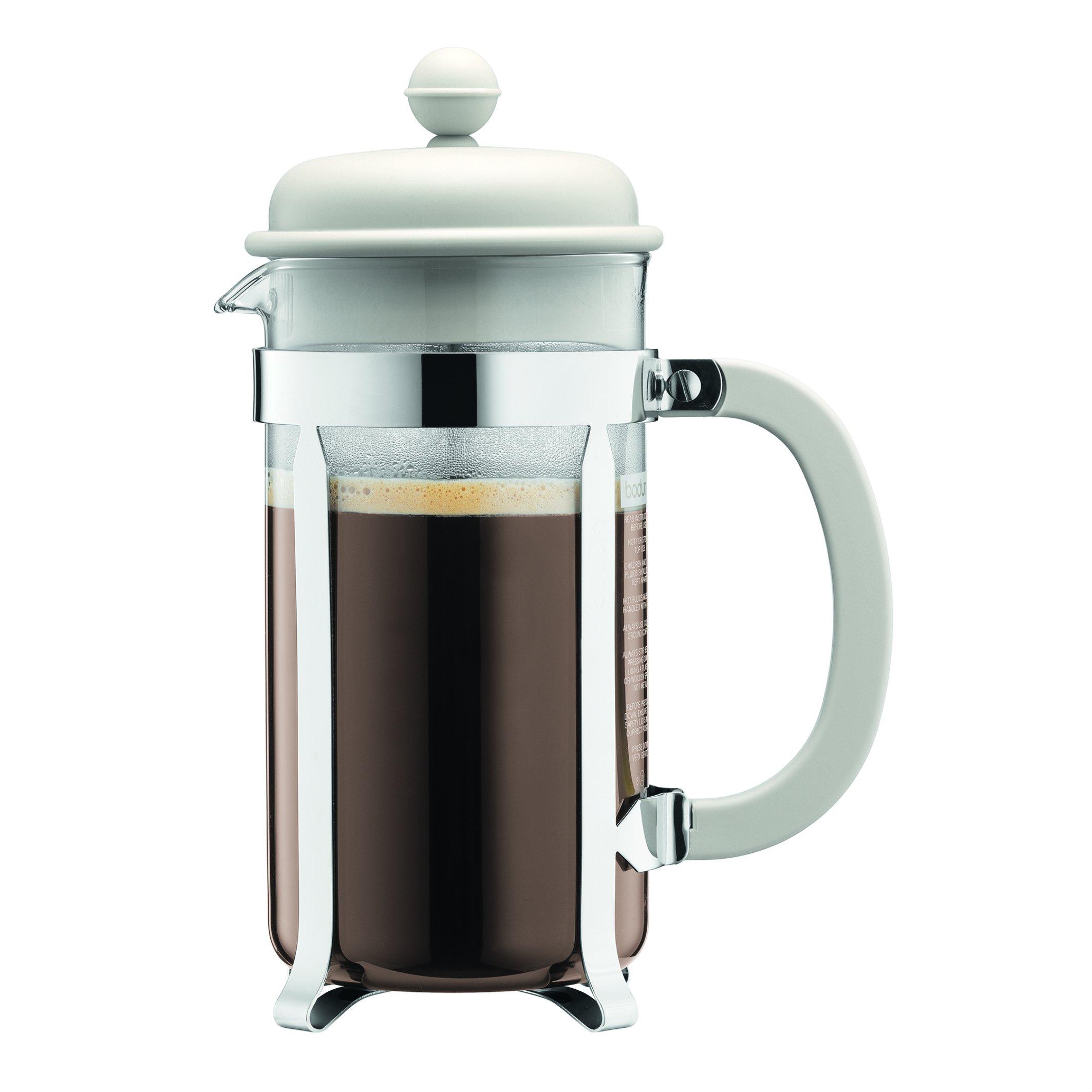 Bodum Caffettiera 1-Liter 8-Cup Coffee Maker, 34-Ounce, Off-White