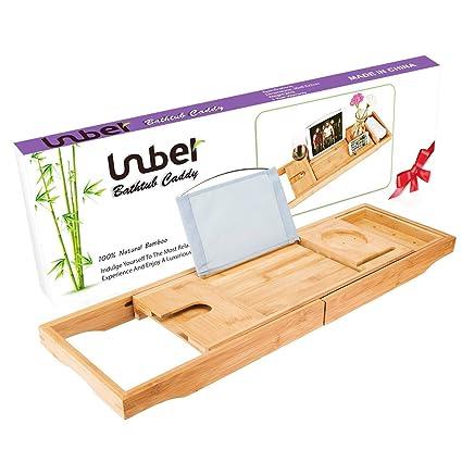 Quanto Contiene Una Vasca Da Bagno.Vassoio In Bambu Per Vasca Da Bagno Con Lati Estensibili Supporto