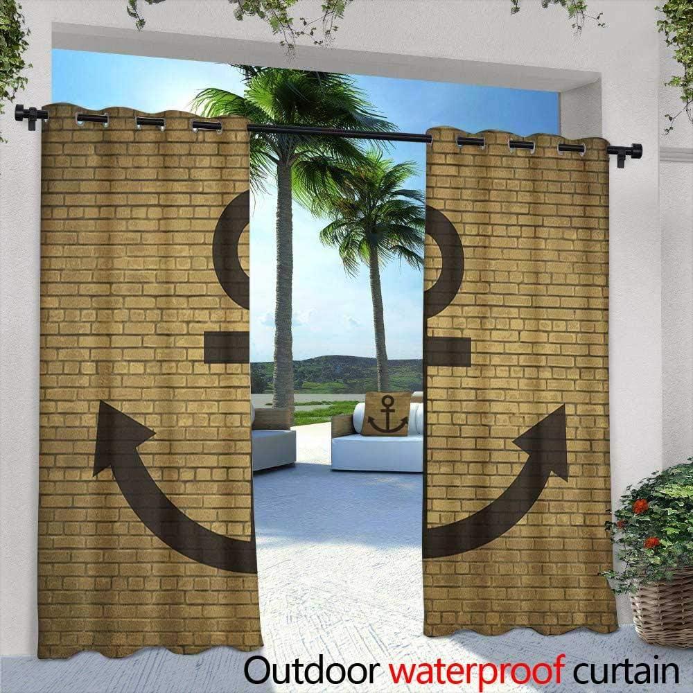 Marilds Anchor - Cortina para Puerta corredera, diseño de Ancla Digital, Color marrón: Amazon.es: Jardín