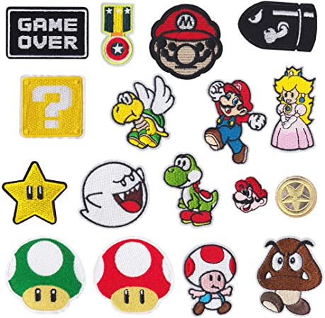 CYWQ 17 piezas Mario parches de parche para planchar parches ...