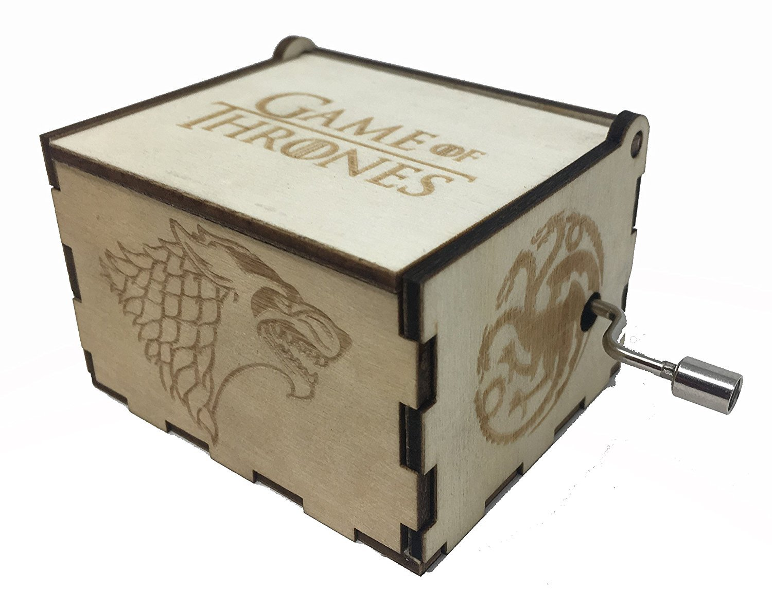 ASVP Shop Game of Thrones Music Box Wooden Custom Engraved Gift Wood Musical Box