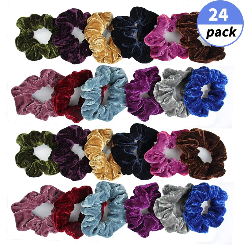 24 pcs Scrunchies Hair Ties Ju...