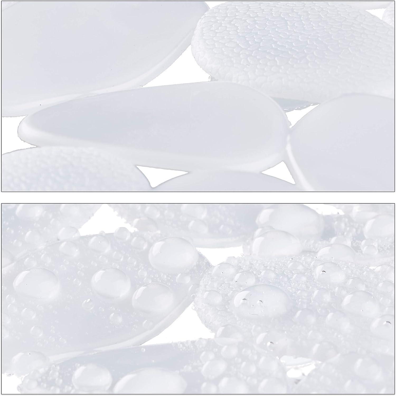 Relaxdays Badewanneneinlage Steinoptik Badeeinlage 1er Set Antirutschmatte lang mit Saugn/äpfen grau