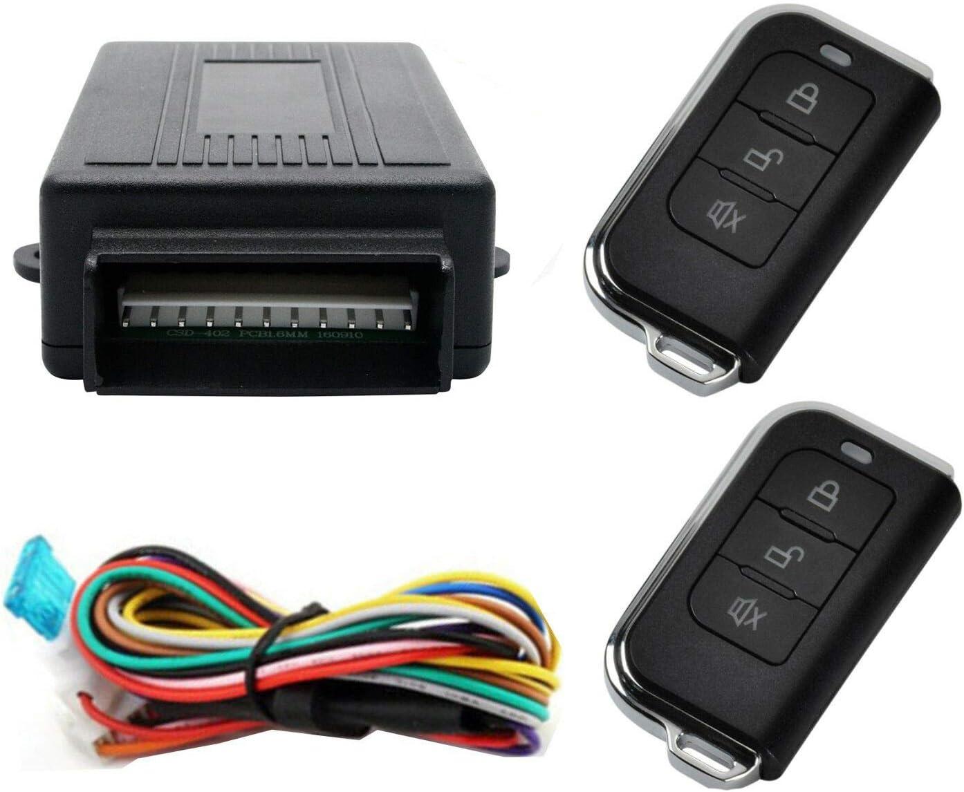 Bessie Sparks Car Remote Control Central Locking Kit Universal Keyless Entry System 2 keys