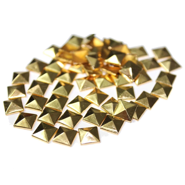 FlatBack Studs Ochoos PROMOTION!100pc Hotfix Iron On 8mm Flat Back Antique Bronze Pyramid Studs