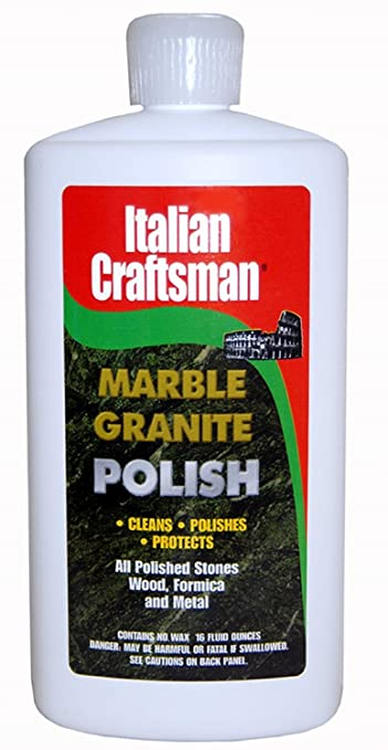 Granite And Marble Polish   Cleans And Protects   Italian Craftsman 16 Oz