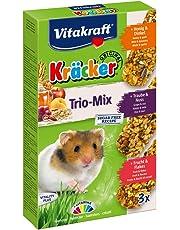 Vitakraft KRÄCKER Trio-Mix, knabber Barre pour Hamster à Base de Miel/Noix/Fruits, Lot de 5(5x 3Barres)