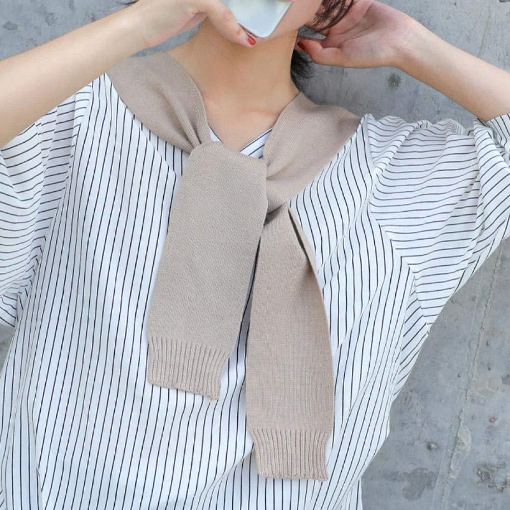 Manga de manto de punto, corbata para mujer con pañuelo, caqui ...