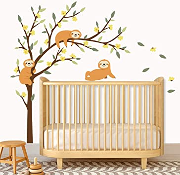 Childrens Room Nursery Removable Wall Stickers Murals ufengke/® 8 Pcs Cute Owls In Forest Wall Decals
