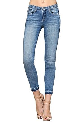 c88ab8da424 Flying Monkey Pike Released Hem Mid-Rise Medium Wash Ankle Skinny Jeans (27)