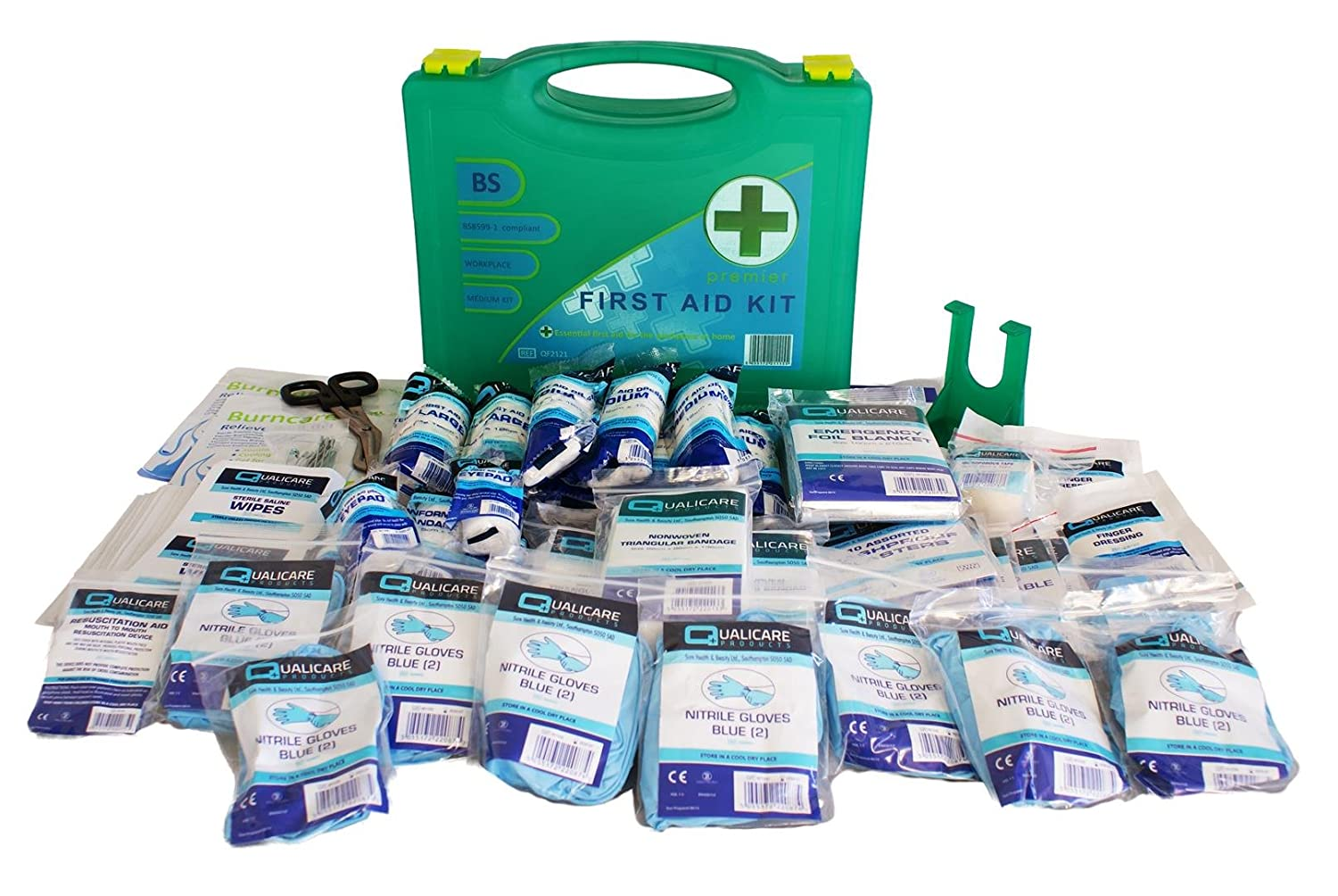Qualicare BSI Premier Medium First Aid Kit with Wall Bracket Qualicare Products