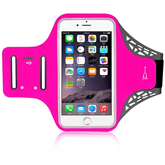 "Running Armband, ANMRY 5.5"" Outdoor Workout Sports Arm Pack Pouch Case Touch ID Support"