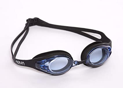 0ea89b5ebb7 Aquagoggles V2- Optical Prescription Swim Goggles One Piece Soft Silicone  Seal Strap Combo