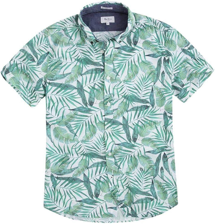 Pepe Jeans - PM305796 Allan - Camisa Manga Corta Estampada - Hombre: Amazon.es: Ropa y accesorios
