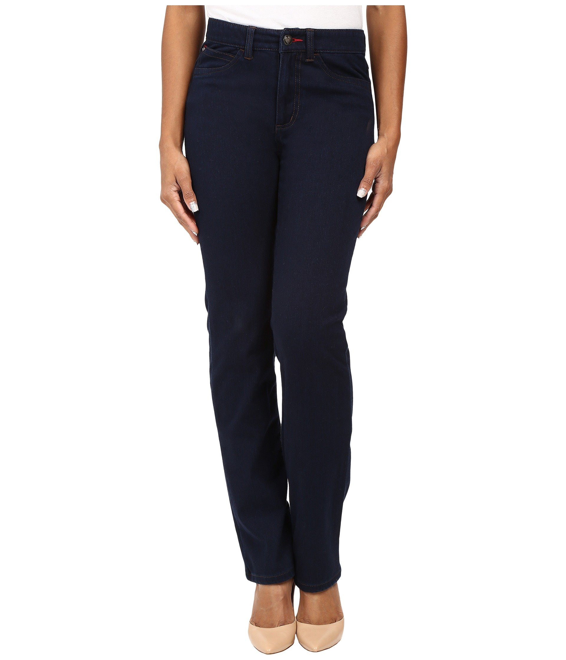FDJ French Dressing Jeans Women's Petite Suzanne Straight Leg Love Denim in Indigo Indigo Jeans