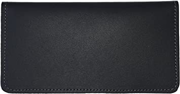 Top Tear Check Registers Navy Vinyl Checkbook Holder Duplicate Flap Cover