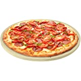 CastElegance Durable & Safe Thermarite Pizza Stone for Best Crispy Crust, Leading 5/8 inch Thickness Stone + Bonus Recipe E-B