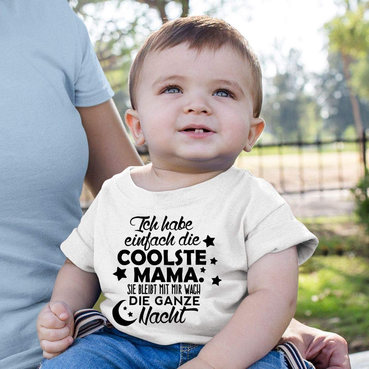 handbedruckt in Deutschland Mikalino Baby//Kinder T-Shirt mit Spruch f/ür Jungen M/ädchen Unisex Kurzarm Ich Habe einfach die coolste Mama Handmade with Love