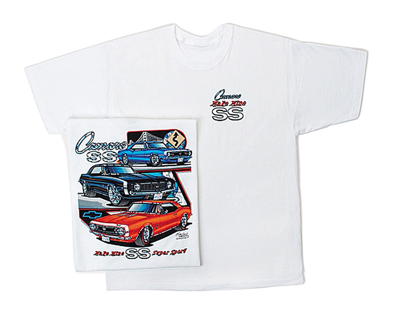 Bundle of 2 Items One T-Shirt and One Racing Decal Gregs Automotive Camaro SS Chevrolet Chevy T Shirt