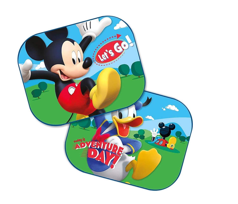 Disney Mickey Mouse: 2 x Auto Sonnenschutz/Vorhä nge / Seitenscheibe/Sonnenblende inklusive UV Schutz fü r Baby und Kind Javoli