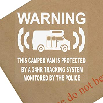 Platinum Place 6 x Camper Van Dummy/Fake GPS Tracking System Device Unit -  Campervan Security Alarm Warning Window Stickers - Police Monitored Vinyl