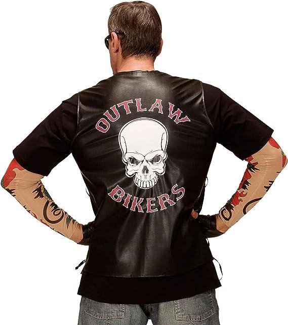 WIDMANN 49006 ? Chaleco de Motero Outlaw en imitación de Cuero ...