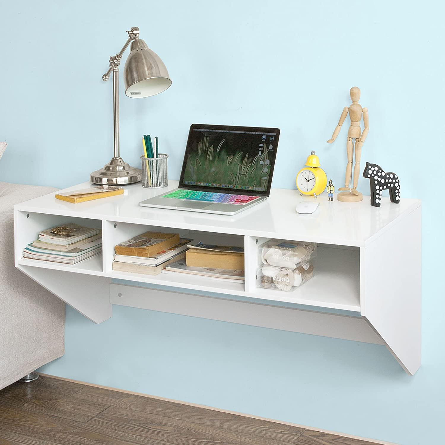 small walnut spaces save room desk wall gallery mounted that in fold view finish desks away closed