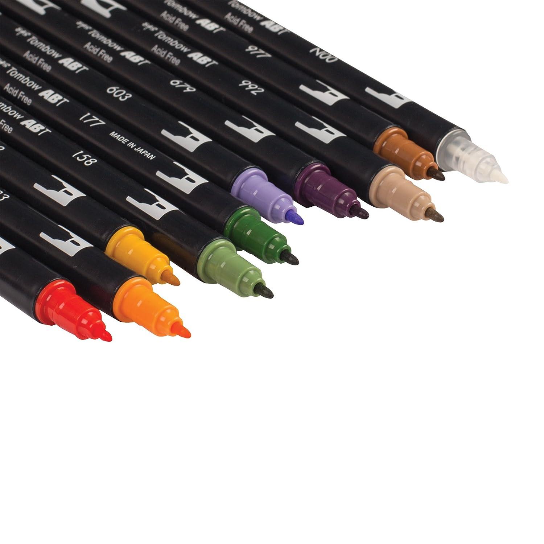 Tombow Secondary Lot de 10 feutres pinceaux double tête multicolore DBP10-56168