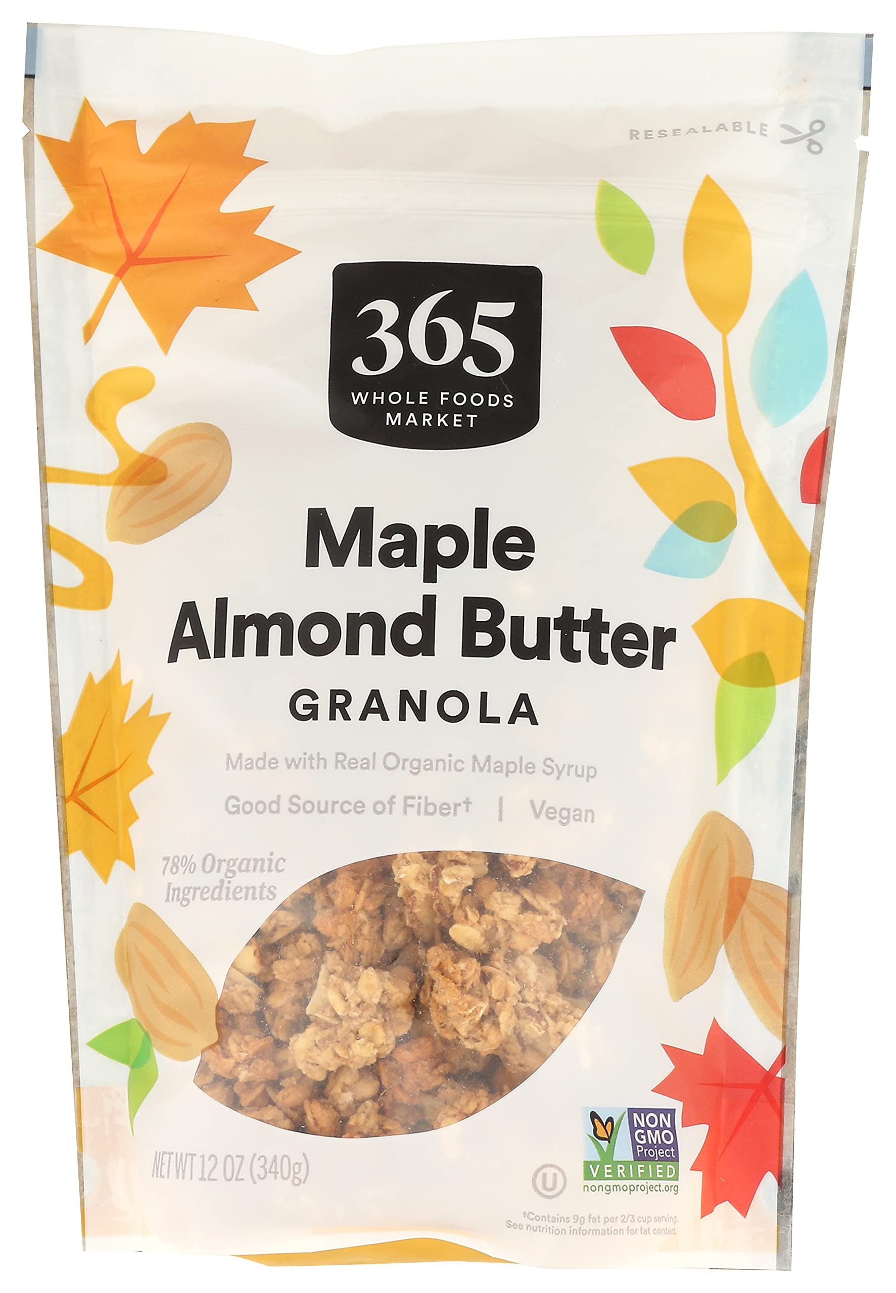 365 by Whole Foods Market, Granola, Maple Almond Butter, 12 Ounce
