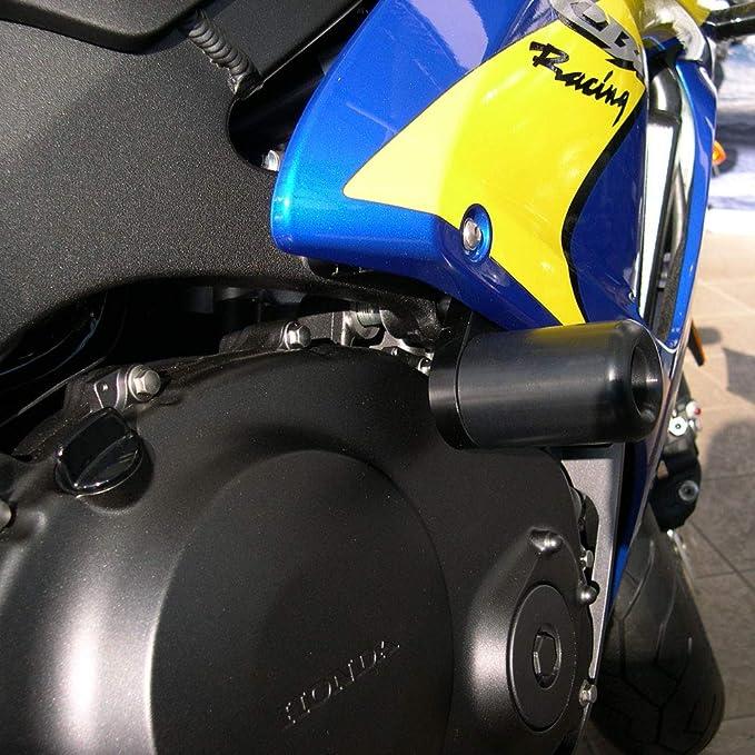 Krator MT219-003 Black Slider 2004-2005 Honda CBR 1000RR No Cut Frame Crash Protectors Motorcycle