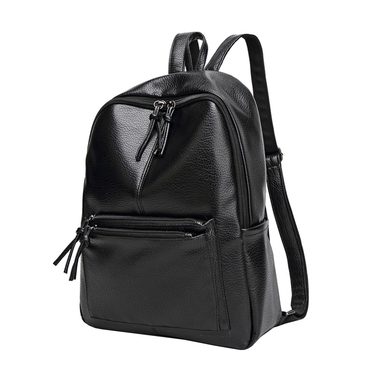 Black OneSize Ms. Casual Backpack Fashion Backpack PU Leather Bag Travel Bag Shoulder Bag,BlackOneSize