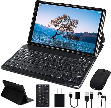 Todo para el streamer: Tablet 10 Pulgadas FACETEL Q3 Android 9.0 4GB de RAM y 64 GB de ROM,5MP 8MP Cámara Tablet PC Batería de 8000mAh,Certificación Google gsm   WiFi   GPS   OTG   FM   Bluetooth-Gris