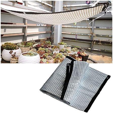 Red De Sombra Aluminio Reflectante Toldo Vela 85% UV Invernadero Vela de Sombra, para Gazebo Al Aire Libre Terraza Patio Decoración De La Fiesta Jardín Protección Planta Cobertura Automóvil Toldo: Amazon.es: Hogar